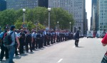 Police line. Very vigilant and diligent